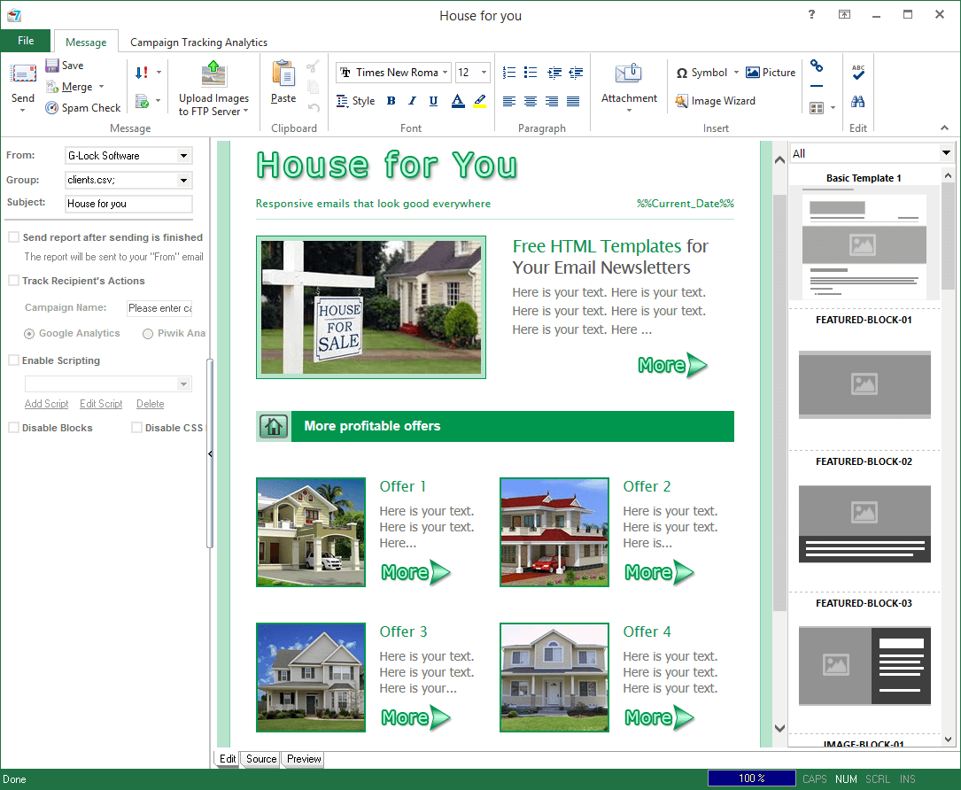 real estate email marketing templates