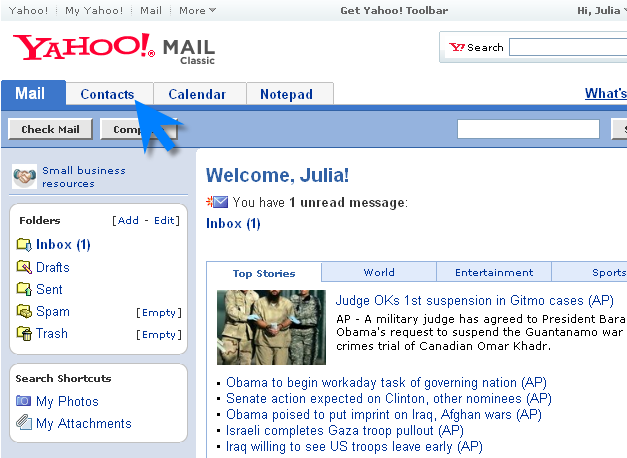 Send bulk emails to Yahoo contacts